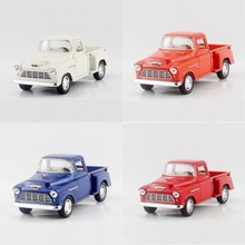 4in1 1955 3100 Pickup trucks 4 Color/Set 1/32 alloy models model car Pickup Diecast Metal Pull Back Car Toy For Gift Collection
