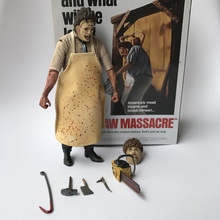 18cm 40th Anniversary Ultimate Leatherface Classic Terror Movie The Texas Chainsaw Massacre Action Figure In 3D Boxed