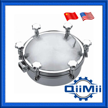 200mm SS304 SS316L Pressure round manhole cover