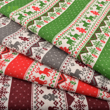 Chainho,Christmas Series,Printed Cotton Linen Fabric For DIY Quilting & Sewing Sofa,Table Cloth,Curtain,Bag,Cushion Material(China)