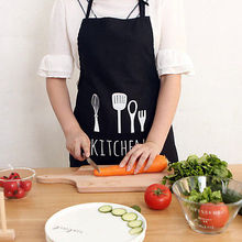 Women Cooking Bib Aprons Solid Cooking Kitchen Cleaning  Restaurant Cooker Apron BBQ Adult Aprons