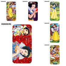 Soft Silicone TPU Transparent Case Protective For Apple iPhone X 8 7 6S 6 SE 5C 5S 5 4S 4 Plus Snow White And The Seven Dwarfs(China)
