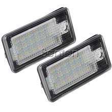 1Pair Car LED number License Plate Light 12V SMD LED lamp Car Styling For Audi A6 c6 Q7 A4 b7 A4 b6 8E A3 S3 A8 S8 S6 RS4 RS6(China)