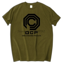O.C.P Robocop inspired Mens Ringer T Shirt Alex Murphy Omni Consumer Products(China)