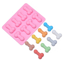 Sexy penis cake mold dick ice cube tray Silicone Mold Soap Candle Moulds Sugar Craft Tools Bakeware Chocolate Moulds D566