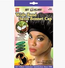 Beauty Town Luxury Wide Band Satin Bonnet Cap(China)