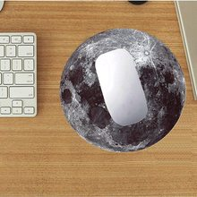 Portable Locking Edge Mousepad Moon Shaped Gaming Mouse Pad Rubber Mouse Mat Round Keyboard Mat Table Mat For Dota for Gamer(China)
