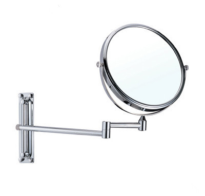 OWOFAN Bath Mirrors 8 Inch Dual Makeup Mirrors 1:1 and 1:3 Magnifier Copper Cosmetic Bathroom 2-Faced Wall Mount Mirror 1108<br>