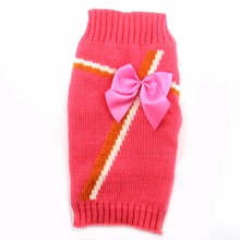 2017 New Design Polyester Pink Dog Sweater Pet Puppy Cat Winter Jumper Costume Coat Clothes For Small Medium Dogs XXS XS S M L