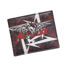European American Hot Rock Band Music Wallets Heavy Metal Band Metallica Wallet Bifold Card Holder Leather Fans Men Women Wallet(China)