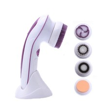 4 in 1 Electric Facial Cleanser 2 Speed Ultrasonic Sonic Rotary Cosmetic Brush Spin Face Cleaning Brush For Skin Beauty Care