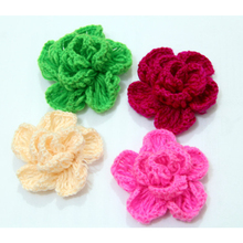CirGen,Fashion Cute Original Handmade Knitting Rose Flower Brooch / Hair clip Hair Bows Brooches Pins Jewelry Item,A64