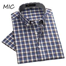 2017 summer NEW men's brand short sleeve shirt spring plaid casual dress shirts men bussines formal shirt male Camisa Masculina