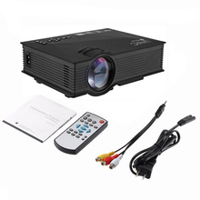 "UC46 Mini Video Projector 1200 Lumens Full Color 130"" Image Portable LCD LED Home Theater Cinema Support HD 800*480P Video"