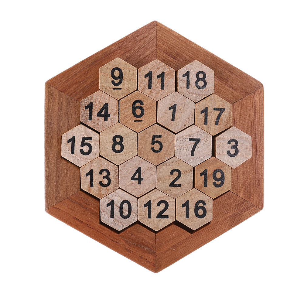 Children Wooden Number Board Kid Brain Teaser Math Game ...