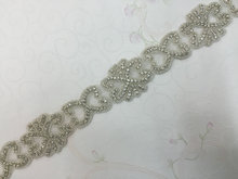 Free Shipping 10 yards Crystal Rhinestone Trim, Rhinestone Applique, Bridal Applique,Wedding Applique,Rhinestone Chain