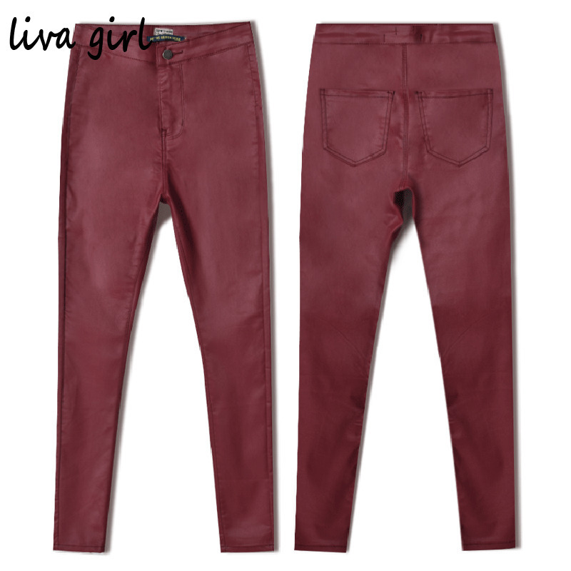 Spring  Elastic Woman Jeans Denim Plus Size Skinny High Waisted Ripped Jeans for Women Jean Femme Red Wine Slim Pants TrousersОдежда и ак�е��уары<br><br><br>Aliexpress