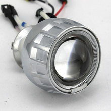 Buy 2.0 inch Universal Motorcycle Dual-lens HID Xenon Bulb Angel Eyes Devil Eyes Lens Bi-xenon High/low Projector LensFor Motorcycle for $30.27 in AliExpress store