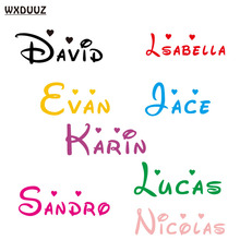 WXDUUZ Customized Personalized Name Children Home Decor Nursery Kids RoomVinyl Sticker Decal Wall Art Sticker C08