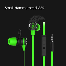 Plextone Small Hammerhead G20 Earphone With Microphone In Ear Gaming Headsets Noise Isolation Stereo PK Razer Hammerhead V2 Pro