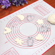 1 PC 2 Colors 40x60cm Silica gel Rolling Pad Baking Sheet Pastry Making Mat Paste Flour Table Pad Kitchen Cooking Tool