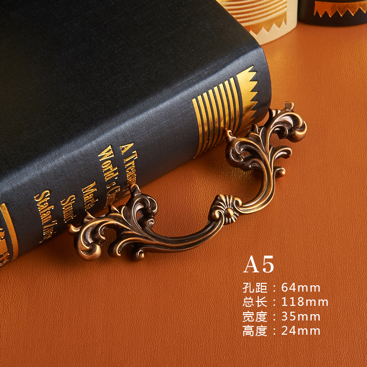 Wardrobe Closet Handle American Cabinet Drawer Shoe Small Handle Handle 64 Handle Antique Coffee<br><br>Aliexpress
