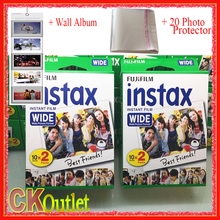 (40 Sheets) Fujifilm Instax Wide White Film + Free Gift For Polaroid Instant Photo Camer Fujifilm 300 200 210 100 500AF