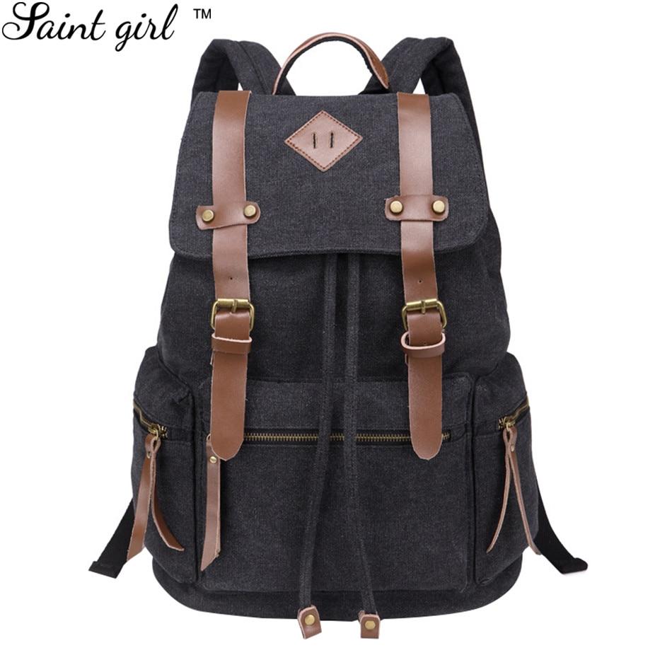 Saint Girl Vintage Design Men Daily Belts Backpack Canvas Bagpack Student Schoolbag Drawstring Bag Travel  Backpack SNS197<br><br>Aliexpress