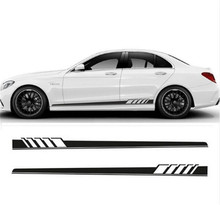 Car 5D Style Stripes Sticker Side skirt sticker  Auto Side Skirt for AMG Edition Stripe Side Body Garland for Mercedes C Class