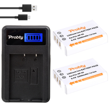 Probty 2pcs NP-95 NP95 Battery+LCD USB Charger for Fujifilm X30 X100 X100S X100T X-S1 FinePix F30 FinePix F31 fd F31f Real 3D W1