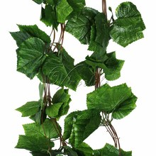 10Pcs/Lot 2.3M Artificial Plants Grape Ivy Vine Fake Foliage Garland Plants Hanging Plants Flowers Wedding Home Decor(China)