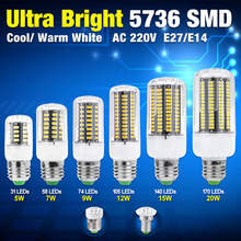 TSLEEN 4Pcs E14 E27 Screw 5736 SMD Led Corn Light Bulb Bright Lamp 31 58 74 105 140 170 Leds Lights Lampada Led Ampoule Lighting(China)
