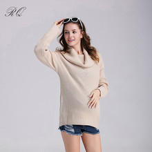 RQ loose soft warm maternity sweater autumn and winter medium-long pullover clothes for pregnant women YF15