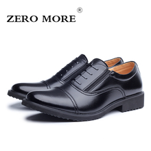 ZERO MORE High Quality Microfiber Oxford Shoes for Men Dress Three Joint Army Office Shoes zapatos hombre Color Black size 38-43(China)