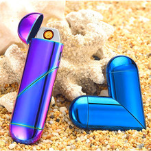 Lovely Folding Heart Shape Refillable Gas Flame Rechargeable Electronic Usb Cigarette Lighter(China)