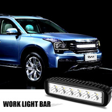 2016 New 1800LM 6000-6500K Cool White Mini 18W 6 LED Car Light Bar Off-road Car Worklight car styling(China)