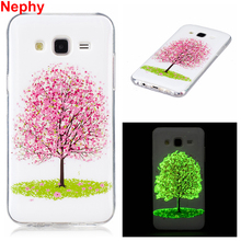 Nephy Luxury Case For Samsung Galaxy J5 J7 2015 J500 J700 J500FN J700F Duos 3D noctilucent Cover Silicon Phone Casing Housing(China)
