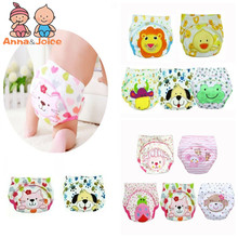 5pc/ Lot 24designs! Baby Diapers Children Reusable Underwear Breathable Diaper Cover Cotton Training Pants Can Tracked(China)