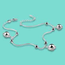 Fashion silver ornament 925 sterling silver anklets female star pendant silver chains Summer must-have accessory for the gift