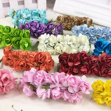 Free shipping mix 12 pcs/lot/ Handmade mini paper flower Mulberry flower for DIY Scrapbooking and make you card