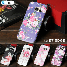 Relief Pattern Rhinestone Hard case 5.5for Samsung Galaxy S7 Edge Case For Samsung Galaxy S7 Edge Cell Phone Cover Case