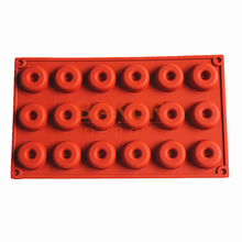 silicone bakeware moulds 18  mini donuts  chocolate mould biscuit cake molds SCM-001-1