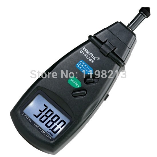 DT6236B Portable Digital 2 in 1 LASER Sensor Photo &amp; Contact Tachometer Tach 99,999 RPM Range<br>