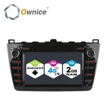1024*600 Octa Core 2GB RAM Android 6.0 Car DVD Player For Mazda 6 Ruiyi Ultra 2008 2009 2010 2011 2012 4G Wifi Radio Stereo GPS