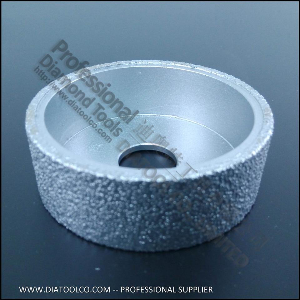 75mmx25MM  diamond profile wheel edge grinding discs Vacuum Brazed Diamond grinding wheel<br><br>Aliexpress