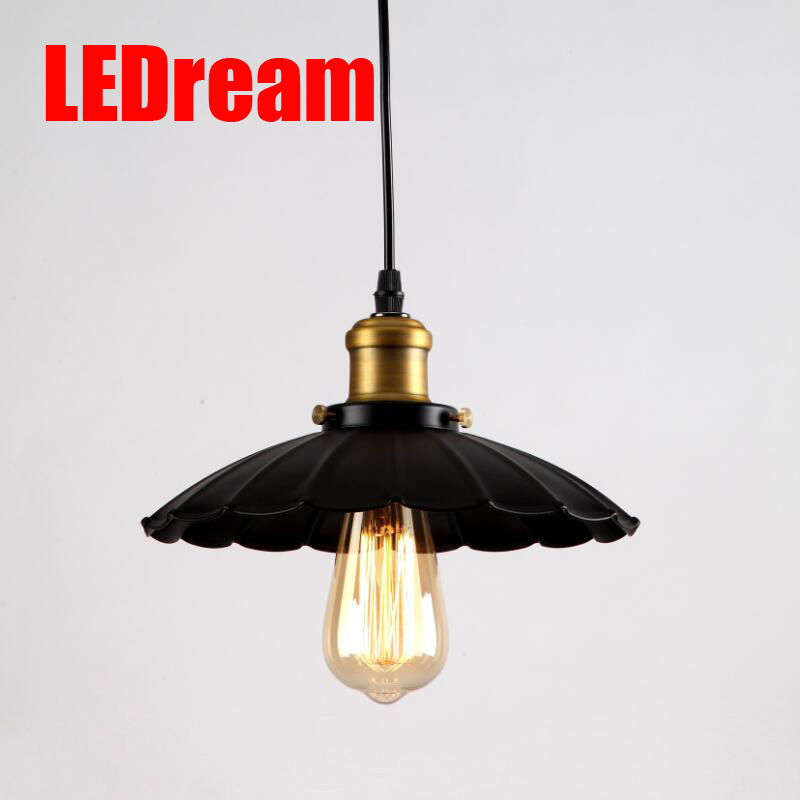 LEDream Black Loft RH Industrial Warehouse Pendant Lights American Country Lamps Vintage Lighting for Restaurant Decoration <br>