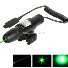 2016 1x Tactical Green Dot laser sight Fr rifle gun scope remote switch 2 mounts(China)