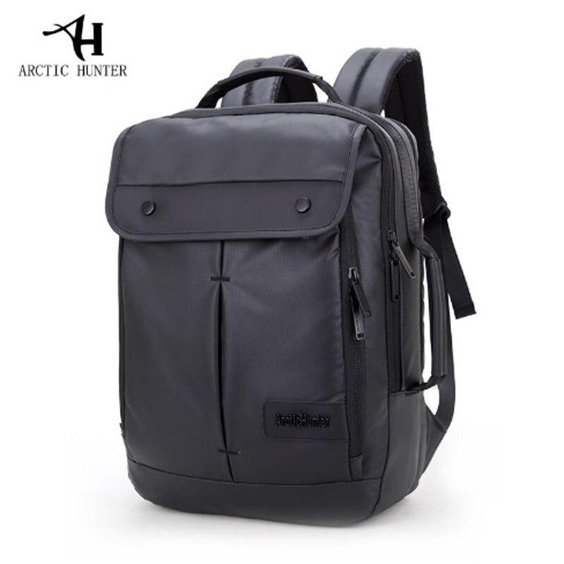 ARCTIC HUNTER Leisure Business Mens Backpack Simple Design Men College Student Laptop Bags Multifunction Waterproof Backpack<br>