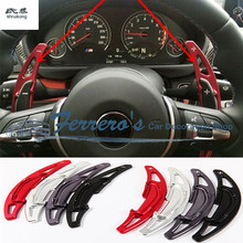 2pcs/lot for BMW M2 M3 M4 M5 M6 X5M X6M Aluminum alloy Steering Wheel Shift Paddle Shifter Extension car-styling