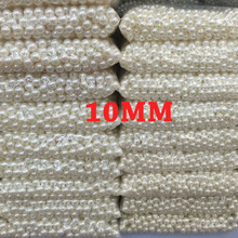 Hot Sale 10mm Dia White Color Round Imitation Pearl Beads Wholesale Retail for DIY Fashion Jewelry and headpiece 50pcs/lot(China)